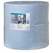 Tork протирочная бумага повышенной прочности в рулоне голубая