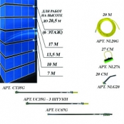 Комплект для мытья окон на высоте до 20,5 метров (6 этажей) nLite Professional