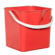 Ведро для мытья пола красное