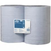 Tork базовая протирочная бумага в рулоне, 2 слоя, голубая