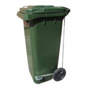 Бак (контейнер) на колесах с педалью для мусора, 120 литров