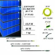 Комплект для мытья окон на высоте до 17 метров (5 этажей) nLite Advanced