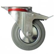 Промышленное поворотное колесо с площадочным креплением (с тормозом)