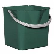 Ведро для мытья пола зелёное